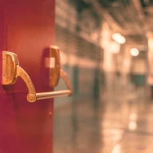 New Orleans Quick Release Fire Exit Door - Crescent Iron Works