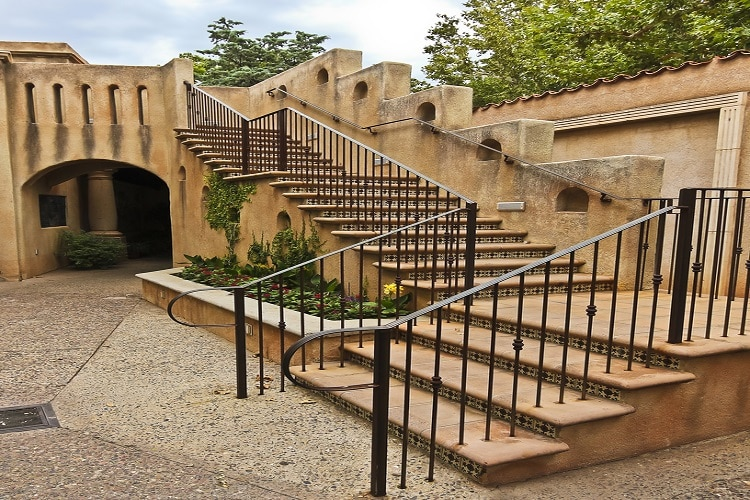 Stairway with handrails - Big Easy Iron Works