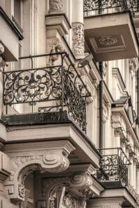 Balcony Antique wrought iron Railings - Big Easy Iron Works