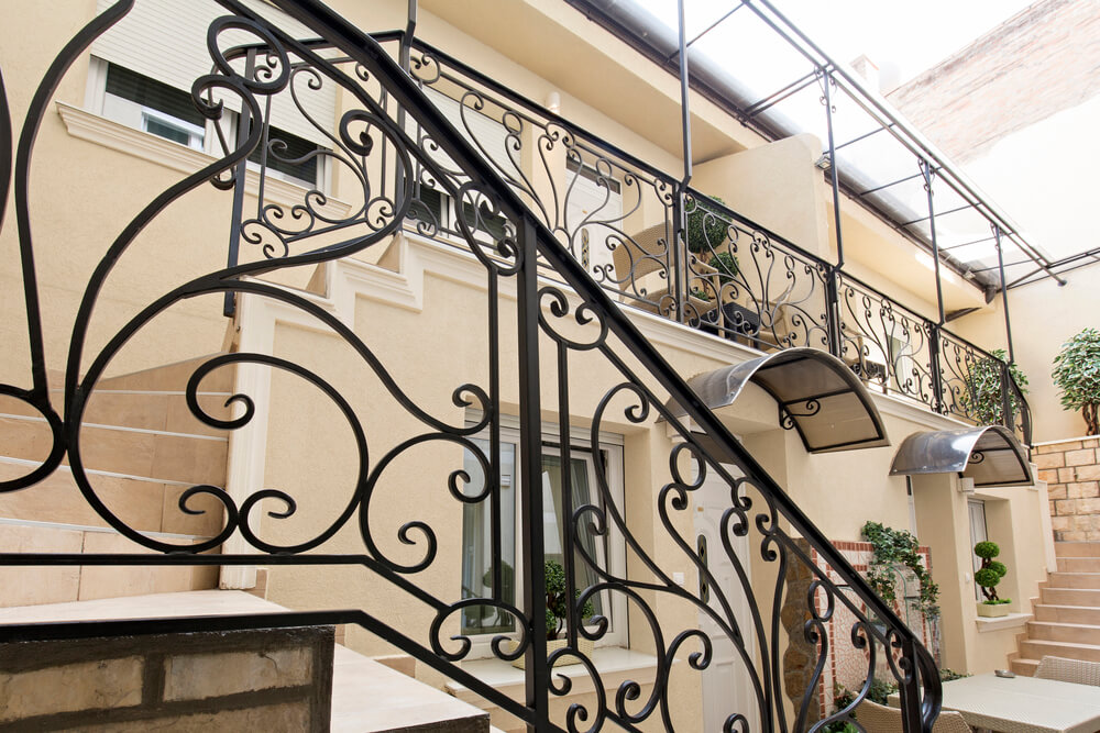 Beautiful home atrium and stairs - Big Easy Iron Works